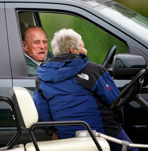 Image result for prince philip driving a land rover