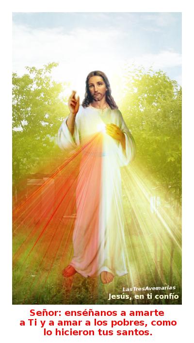 divina misericordia con oracion para pedir amarlo a el y asus pobres de la tierra