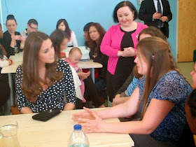 THE DUCHESS OF CAMBRIDGE VISIT WOOLWICH