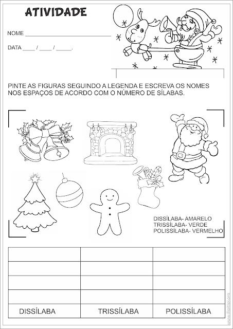 Atividades Gramática Conceitos Projeto Natal