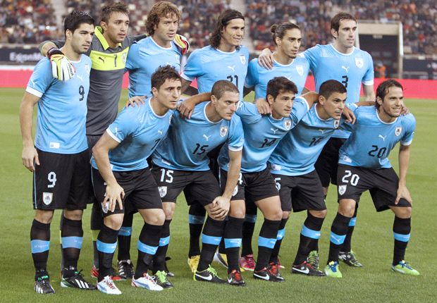 Football Ratings: Average ratings Uruguay in the Confed Cup.