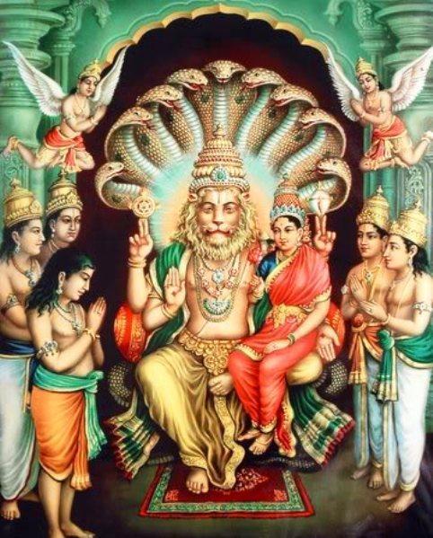Lord Narasimha Miracles Images Photos Wallpapers Hd 2018: Lord NaraSimha - Demon Fearful Wallpapers