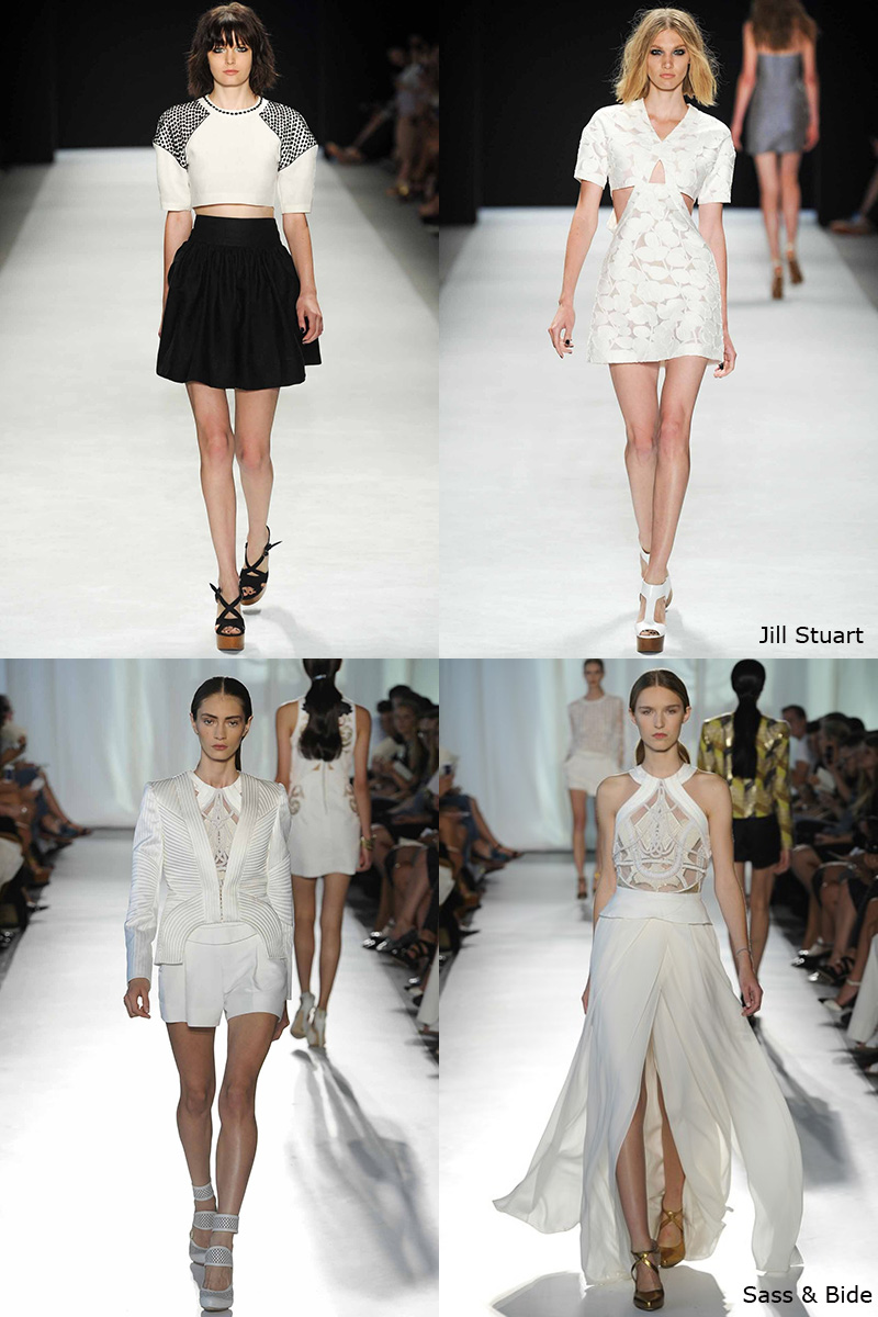 New York Fashion Week, NYFW, SS 2014, white, Sass & Bide, Jill Stuart