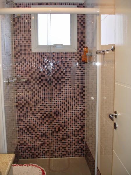 Quer saber o quê? PASTILHAS -> Banheiro Com Revestimento Que Imita Pastilha
