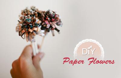 DIY+Mini+Paper+Flowers+from+Greenweddings Flower Tutorials Directory   Blog Birthday Celebrations