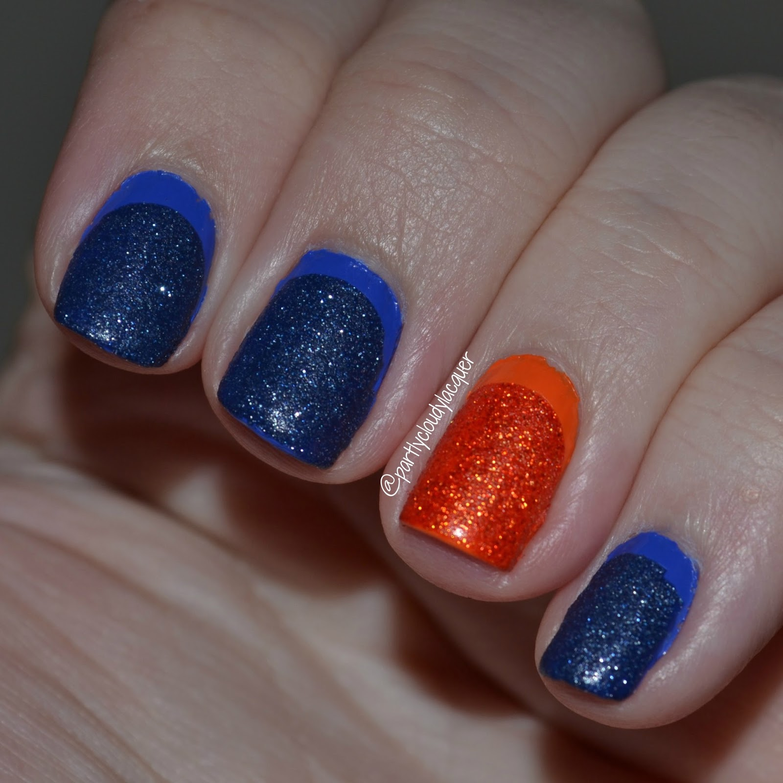 Twinsie Tuesday - Florida Gator Ruffian Nails | Partly Cloudy With a ...
