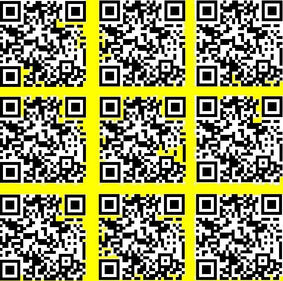 strange yellow & pink QR codes   salt ocean