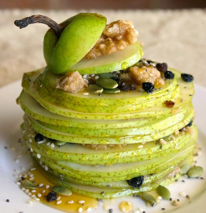 http://talesofakitchen.com/breakfast/fresh-pear-mille-feuille-with-walnut-butter/