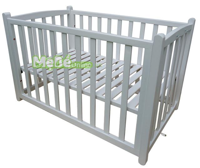 Nôi VINANOI VNN301T với tính năng làm giường cũi gỗ 2 tầng. | Noi go cho be.
