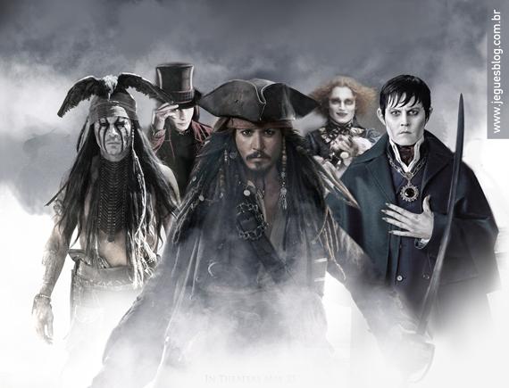 Johnny Depp: Como seria o encontro de Seus Personagens? http://www.jeguesblog.com.br