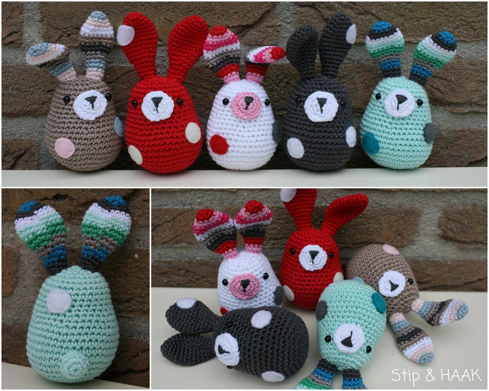 Amigurumi Leren Haken : Christelshobby konijntjes haken voor poekie