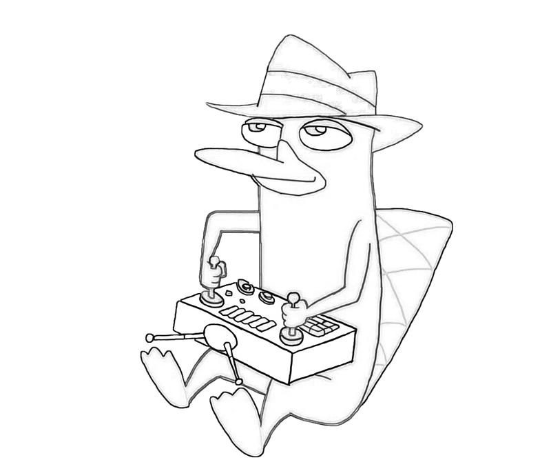 perry the platypus coloring pages - photo#13