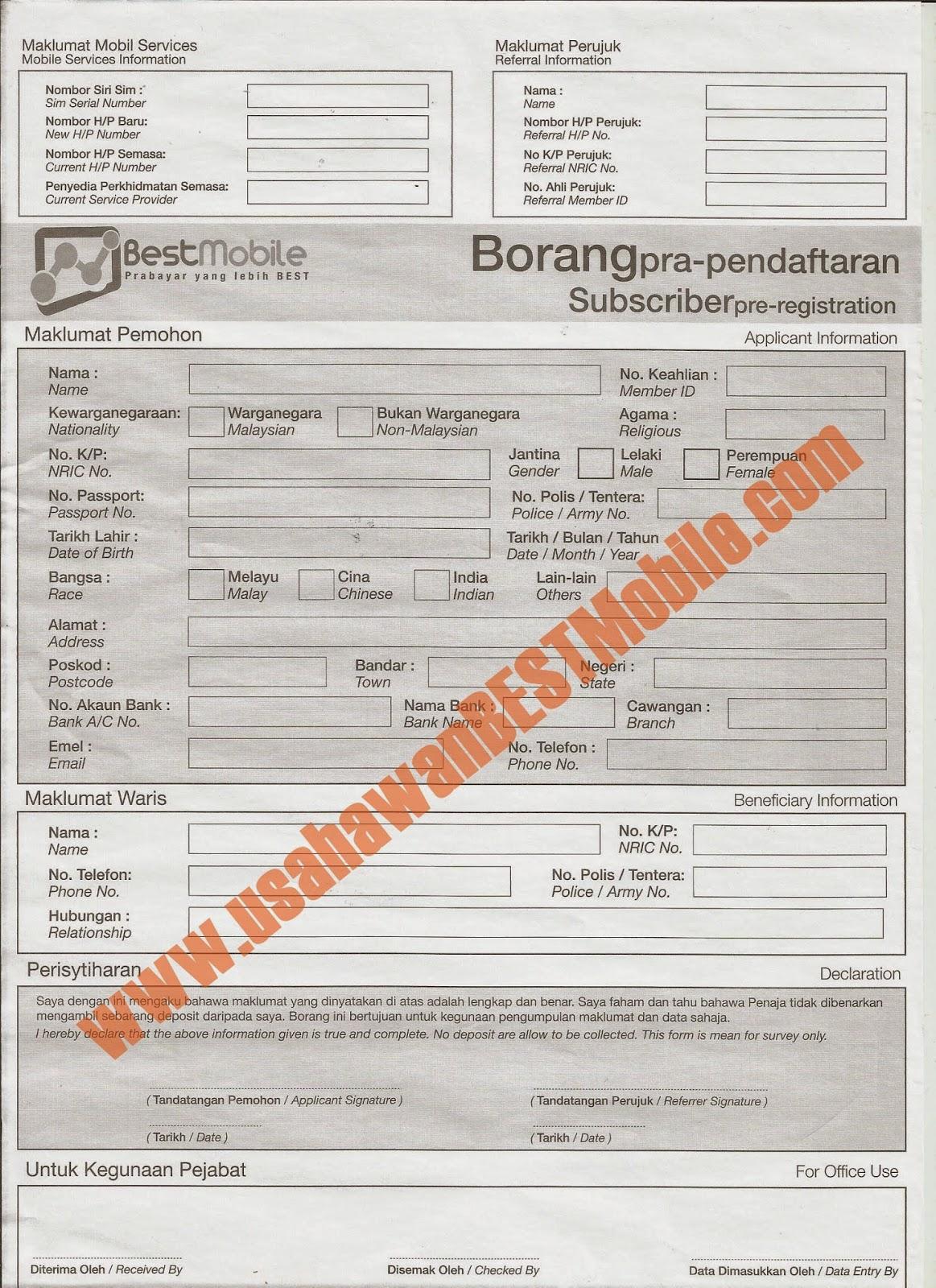 Download Borang Pra Pendaftaran BESTMobile