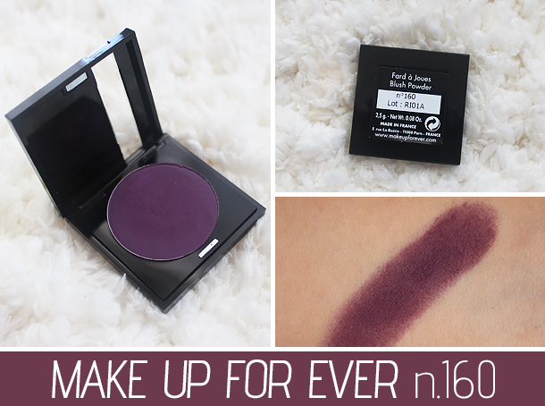 mufe eyeshadow makeup forever 311 160 review swatch purple
