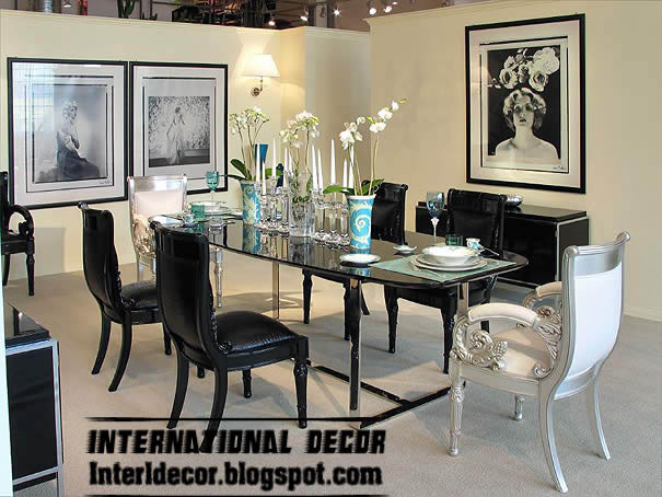 luxury italian dining room furniture ideas black white dining room