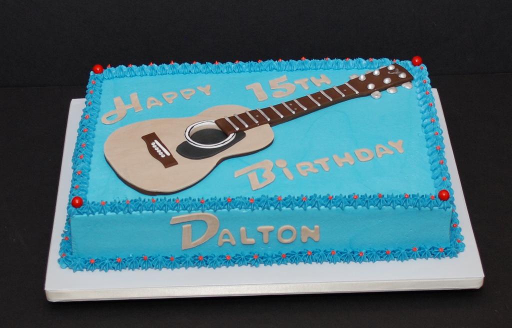 The Bakery Next Door Guitar Birthday Cake