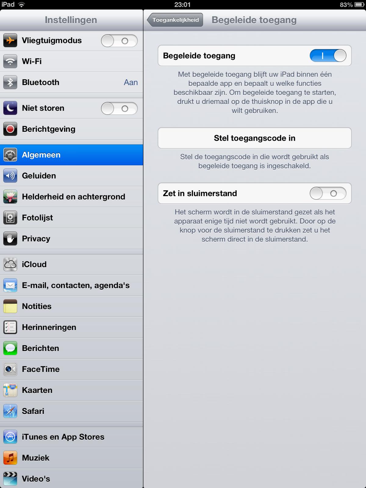 scherm uitschakelen iphone