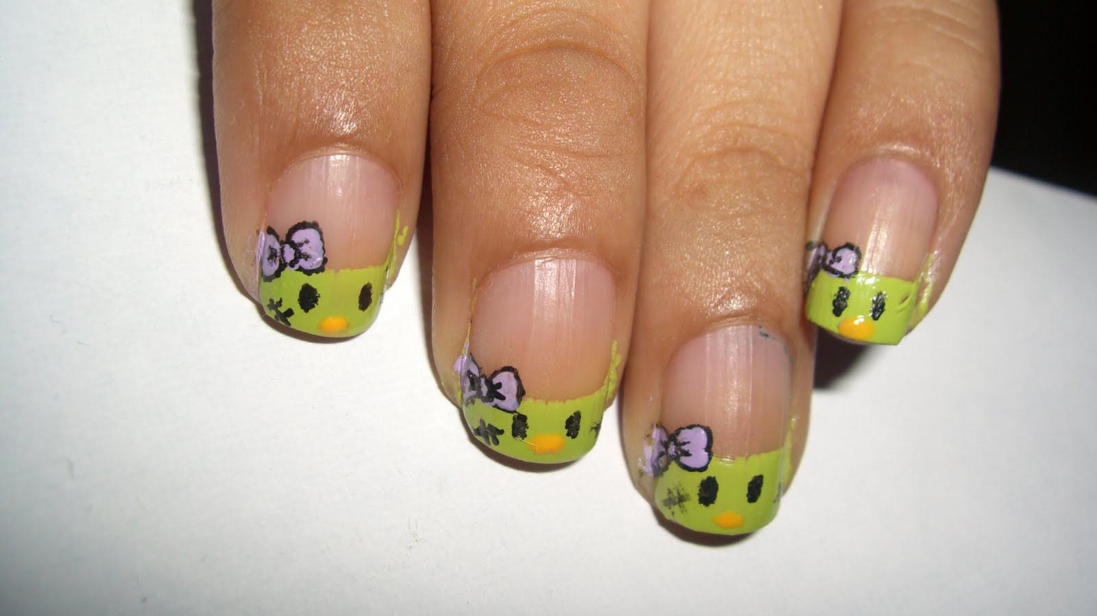 Its Been Educational Halloween Nails 2 Hello Kitty Frankenstein