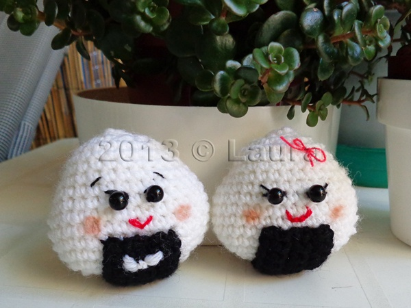 Blog Laura Amigurumi : Laura fa: Onigiri Couple Amigurumi