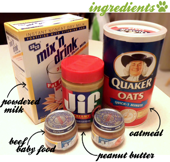 Recipe For Dog Treats Made With Baby Food