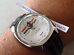 HMT JANATA WHITE DIAL - NEHRU LOGO - BLACK LEATHER STRAP - MANUAL WINDING