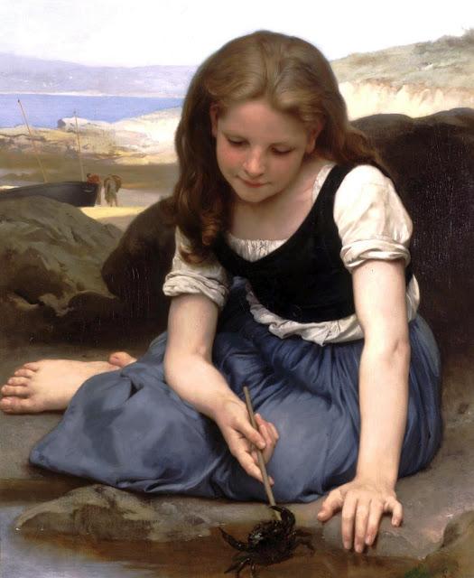 crab,Bouguereau,genre painting