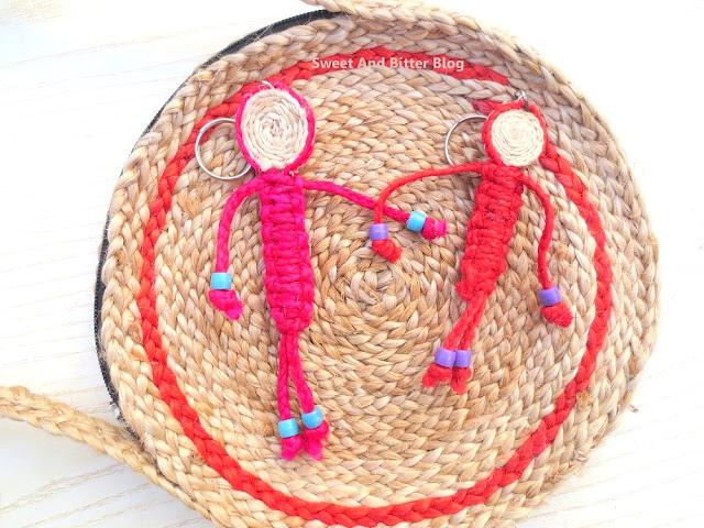 Bengal Jute Handmade Bag Purse Keyring