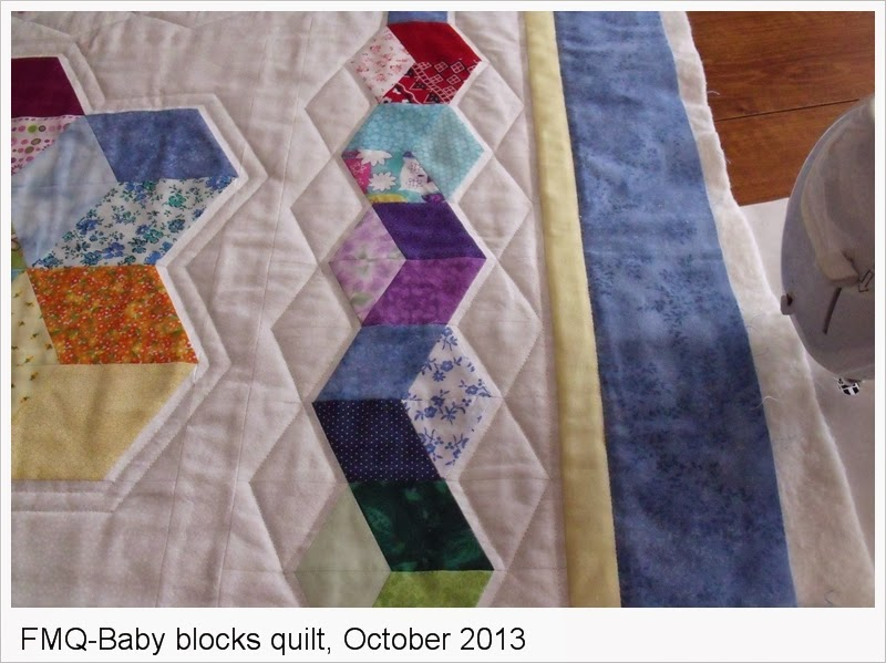 Pine Point designs: Free-Motion Quilting - Baby Blocks quilt