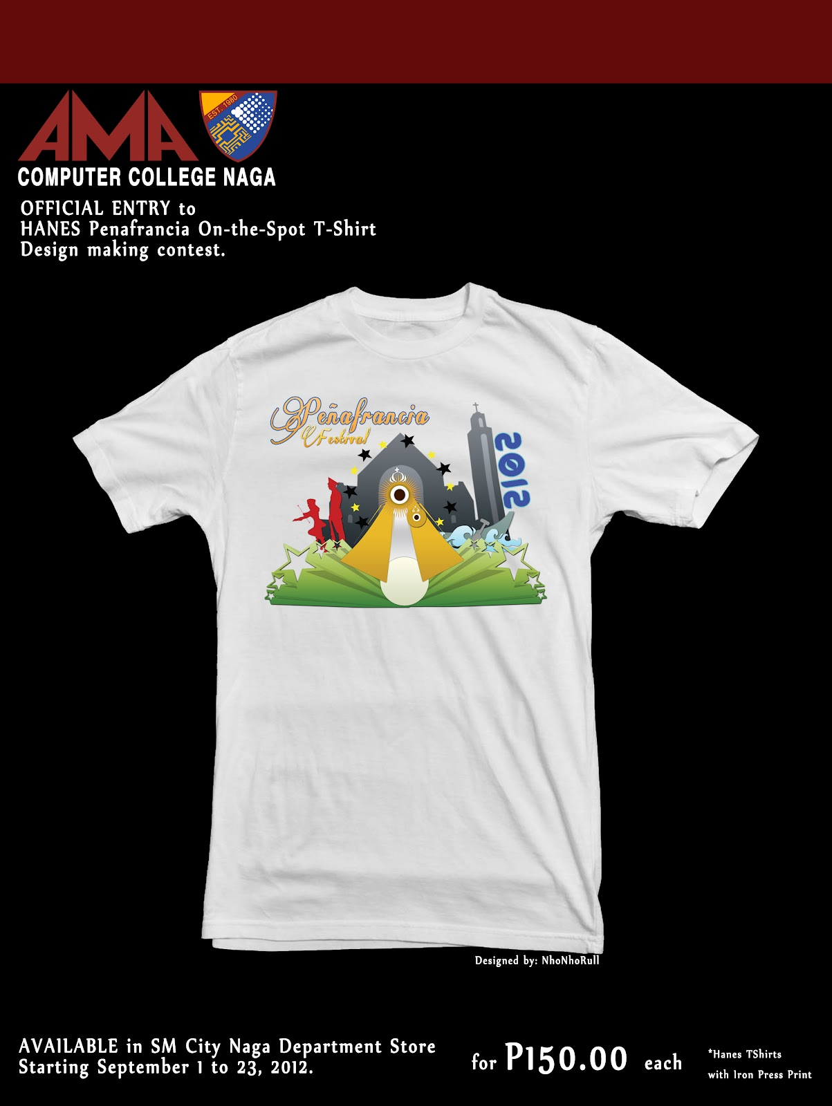 2nd Hanes Peafrancia On The Spot T Shirt Design Contest