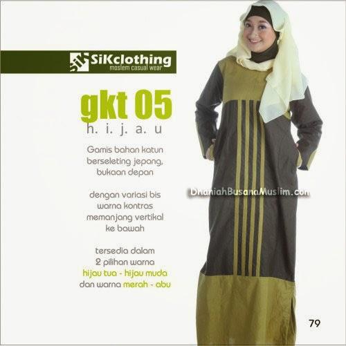 Gamis Sik Clothing GKT 05 Hijau