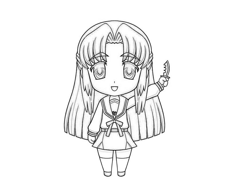 ryouko-asakura-funny-coloring-pages
