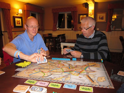 Ticket To Ride Europe - Malcolm and myself early in the game