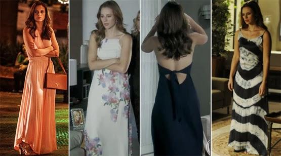 vestidos longos Paloma novela amor à vida