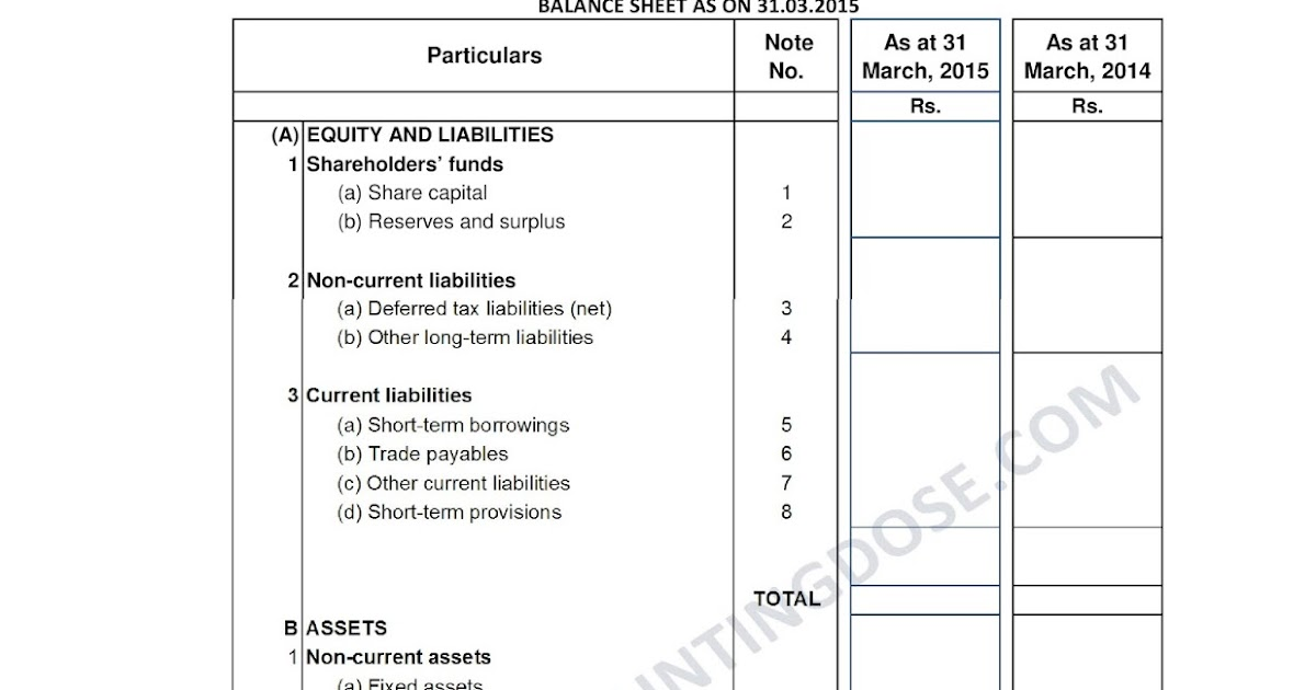 Financial Statements As Per New Schedule Iii Company Act
