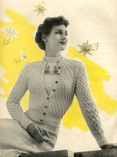 The Vintage Pattern Files: 1950s Knitting - Summer Twin Set