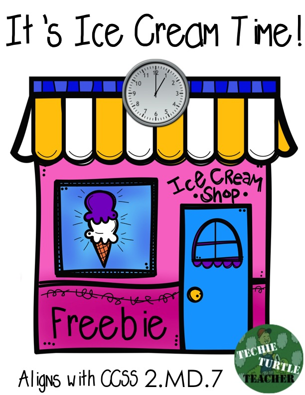 http://www.teacherspayteachers.com/Product/Freebie-Telling-Time-Its-Ice-Cream-Time-CCSS-2MD7-1209339