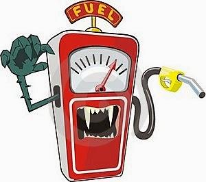 La instrucción del trabajo con la gasolina