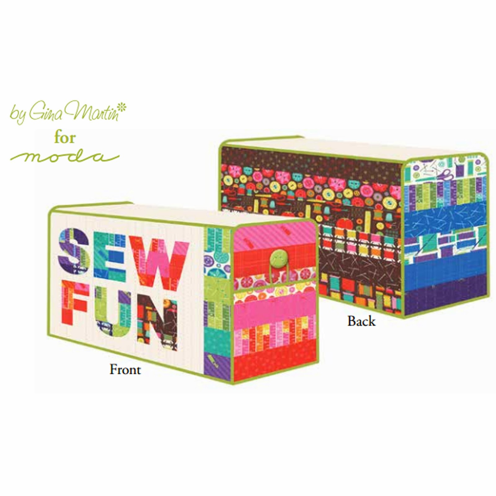 Moda SEWING BOX Free Pattern by Gina Martin