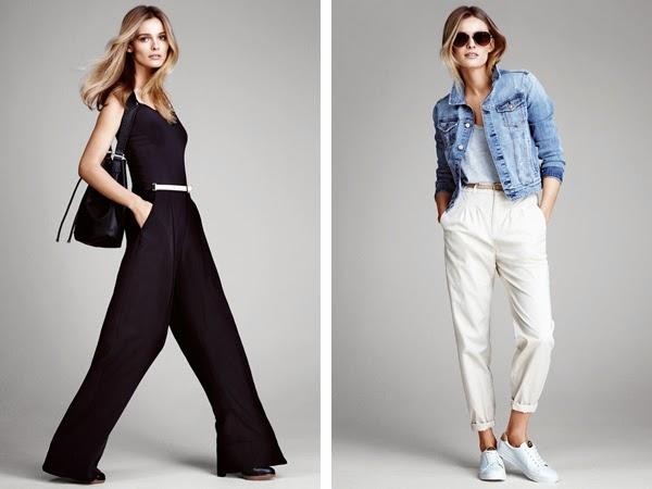 pantalones ancho H&M mujer y pantalones chinos primavera verano