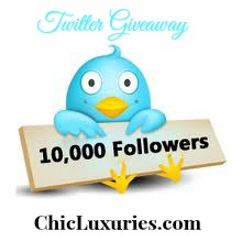 Chic Luxuries 10K Twitter Giveaway