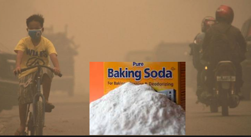 baking soda memurnikan asap
