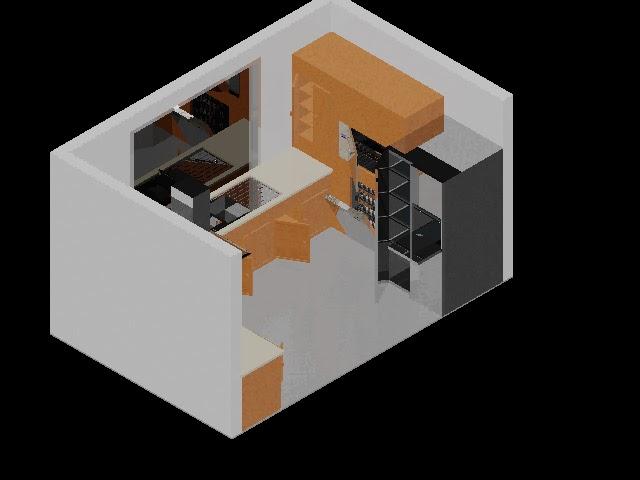 bloques autocad  cocina completa 3d