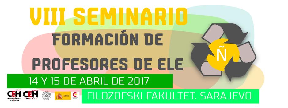 SEMINARIO DE FORMACIÓN DE PROFESORES ELE EN SARAJEVO