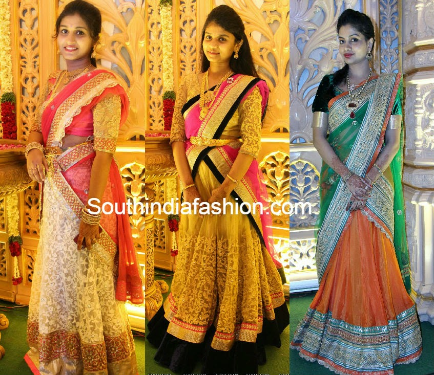 half saree models
