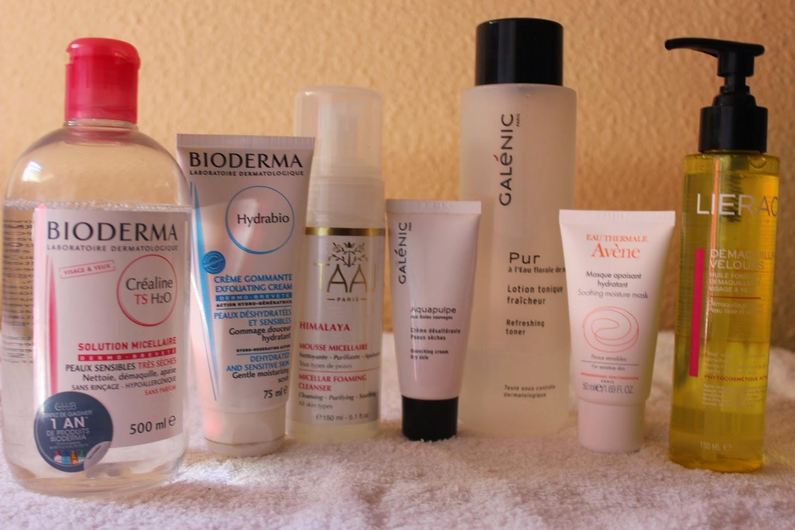 bioderma, lierac, démaquillage visage, produits de beauté, galenic, taaj, avene
