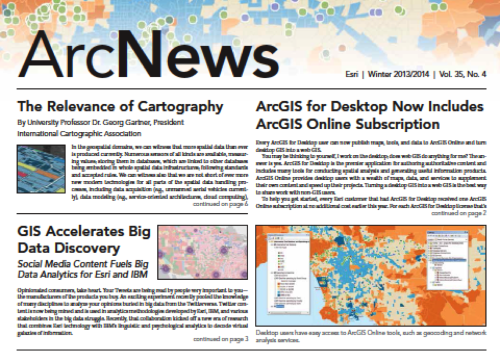 History of GIS...my new article in ArcNews....