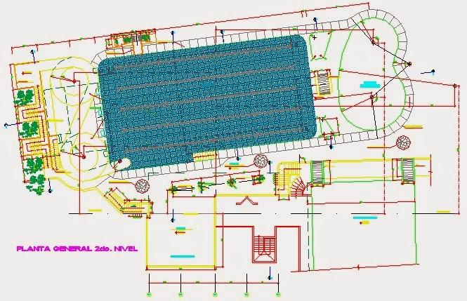 Descargar planos en autocad dwg plano piscina for Plano piscina