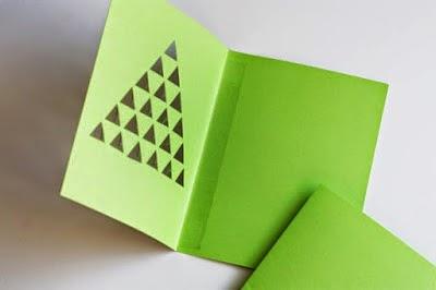 DIY, Tarjeta Geometrica para Navidad