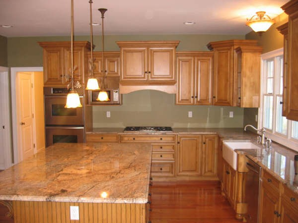 New home designs latest.: Homes modern wooden kitchen cabinets