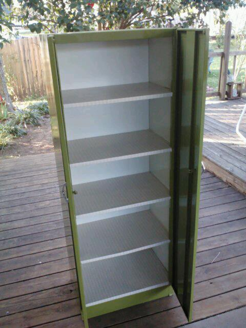 AFTER - Cathy's Craft Corner: Old 1960's Metal Pantry Cabinet Make-over